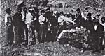 Photograph of Navajo Indians recording songs for O'Hara on wax cylinders, 1913