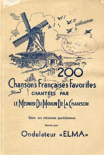 Cover of a book of Pellerin's favourite French songs, published by the sponsor of his radio show