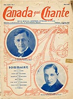 Cover of the March 1928 issue of CANADA QUI CHANTE