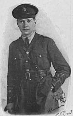 Photograph of Lieutenant Gitz Rice in uniform