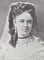 Photo d'Emma Albani à ses débuts à l'opéra en avril 1870