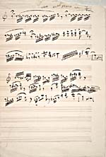 Hand-written music of the mad scene from LUCIA DI LAMMERMOOR