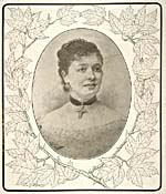 Engraving of Emma Albani, 1883