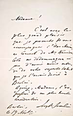 Letter from violinist Joseph Joachim to Emma Albani