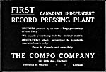 Advertisement for The Compo Company's new record pressing plant, October 1919