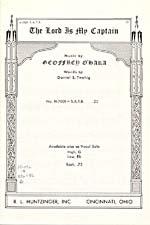 Cover of sheet music for THE LORD IS MY CAPTAIN, by Geoffrey O'Hara