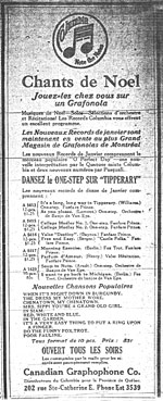 Columbia advertisement for Tipperary,one of the most popular songs of the era, La Patrie, December 21, 191