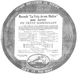 His Master's Voice advertisement for recordings of Hawaiian music by Ben Hokea, January 1920