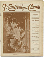 Cover of magazine, MONTRÉAL QUI CHANTE, March/April 1917