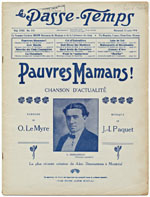 Cover of magazine, LE PASSE-TEMPS, August 1916