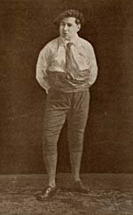 Photograph of Honoré Vaillancourt in costume,1918