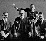 Photo of the Peerless Quartet, circa 1923. Left to right:  John H. Meyer, Henry Burr, Frank Croxton, Albert Campbell