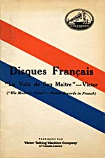 Cover of Victor French Records catalogue, His Master's Voice label, November 1924
