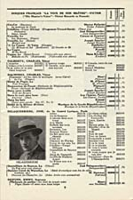 Page 9 from the Victor French Records catalogue, His Master's Voice label, from November 1924, advertising several Delaquerrière recordings
