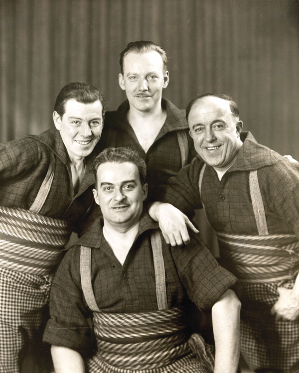 Photo du Quatuor Alouette, vers 1943