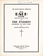 Cover of the program for the Bach Society concert featuring Hubert Eisdell, 1933