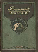 Page cover from catalogue BRUNSWICK RECORDS, listing Florence Easton's available recordings, 1922