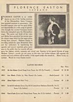 Page 83 from catalogue BRUNSWICK RECORDS, listing Florence Easton's available recordings, 1922