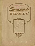 Page cover from catalogue BRUNSWICK RECORDS, listing Florence Easton's available recordings, 1924