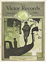 Cover of NEW VICTOR RECORDS catalogue supplement for February 1920
