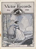 Cover of NEW VICTOR RECORDS catalogue supplement for May 1920