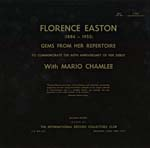 Cover of album commemorating the 60th anniversary of Florence Easton's debut, 1963