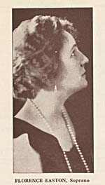 Portrait of Florence Easton appearing on page 5 of programme ALL CANADIAN METROPOLITAN GRAND OPERA STARS, presented by the Rotary Club, Montréal, May 11, 1926