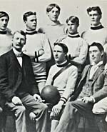 Photograph of Edward Johnson (front centre), captain of the Guelph Collegiate champion soccer team of 1898
