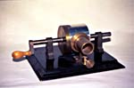 Photograph of the replica of Edison's tinfoil phonograph (CSTM; 1981.0681) to achieve an international career
