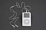 Photograph of the Apple iPod digital music player, 2004 (CSTM; 2005.0003)