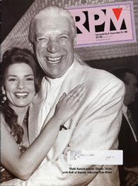 Image of a magazine cover featuring a black and white photograph of Stan�Klees and Shania�Twain