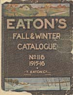 Cover image from Eaton's Fall-Winter Catalogue, no. 116, 1915-16