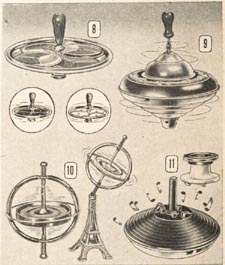 Illustrations of various whirling tops, Eaton's Fall and Winter 1948-49 catalogue