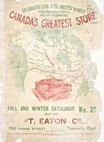 Cover image from T. Eaton Co. Catalogue [English edition]  Fall-Winter, no. 39, 1897-98
