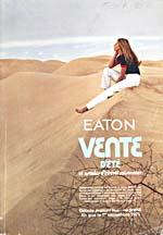 Cover image from T. Eaton Co. Catalogue Ed. Française  Vente d'été, 1971