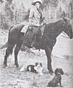 Photograph of Emily Carr on a horse
