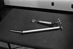 Photograph of scapula lifter and retractor instrument invented by Dr. Norman Bethune, circa 1966