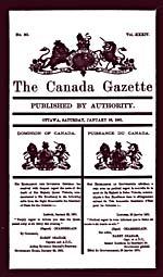 Avis de décès de la reine Victoria, Gazette du Canada, le 26 janvier 1901