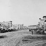 Photograph of Main Street, Winnipeg, Manitoba, 1870
