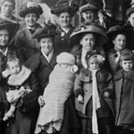 Photograph of a group of immigrants of diverse origins, Québec, Quebec