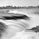Photograph of Chaudière Falls, Ottawa, Ontario, between ca. 1878 to 1882