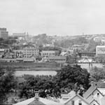 Photograph of a view of Sherbrooke, Quebec, probably 1912