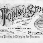 Advertisement for the Topley Studio, 132 Sparks Street, Ottawa, ca. early 1900s