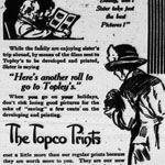 Advertisement aimed at amateur photographers in the PERTH COURIER, Ontario, July 25, 1913