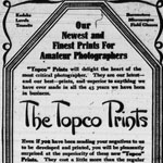 Advertisement aimed at amateur photographers in the PERTH COURIER, Ontario, August 15, 1913