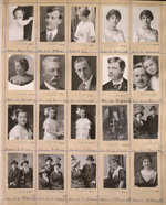 Photograph of a page from a Topley Studio studio proof album, March 1913