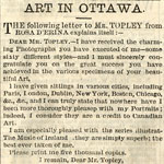 Lettre de Rosa D'Erina à William Topley demandant 5�000 copies additionnelles de son portrait, publié dans le DAILY CITIZEN (OTTAWA), 26 février 1874