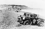Scout car abandoned during the raid on Dieppe.