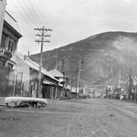 Photograph of Main Street in Dawson City, Yukon, date unknown