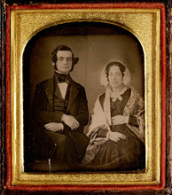 Framed photograph of Samuel Leonard Tilley and Julia Ann Hanford, ca. 1843